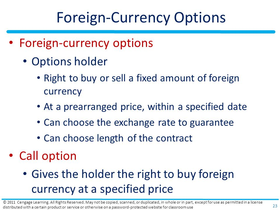 Foreign-Currency Options
