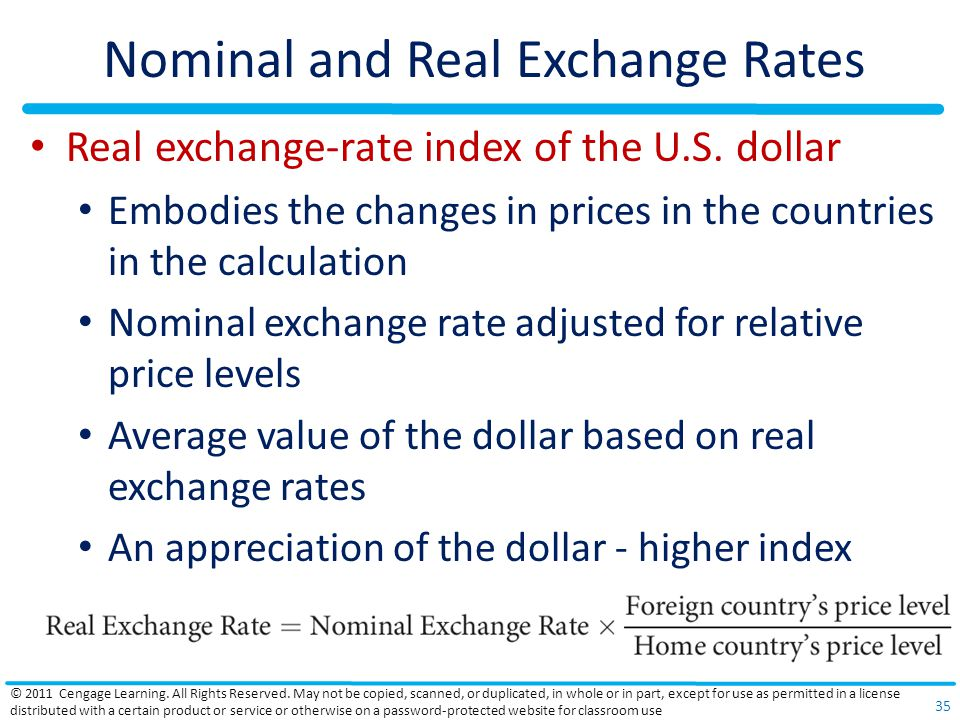 Nominal and Real Exchange Rates