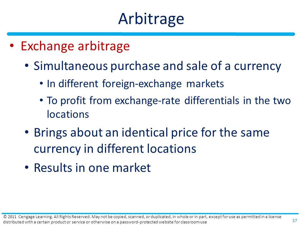 Arbitrage Exchange arbitrage