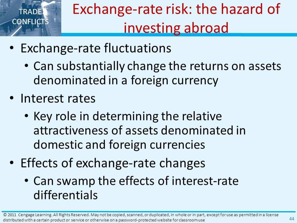 Exchange-rate risk: the hazard of investing abroad