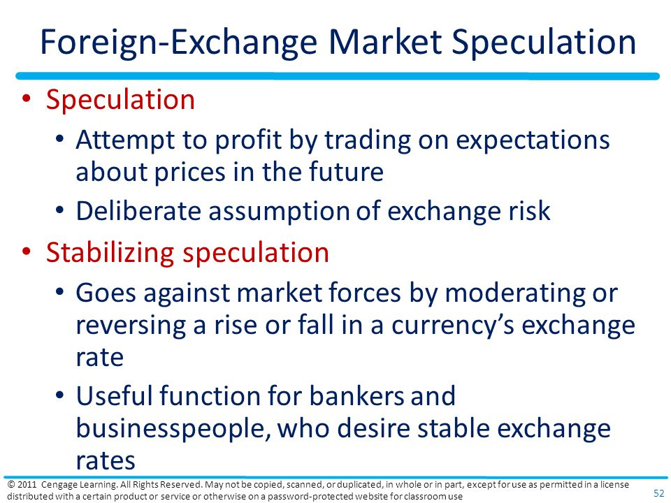 Foreign-Exchange Market Speculation