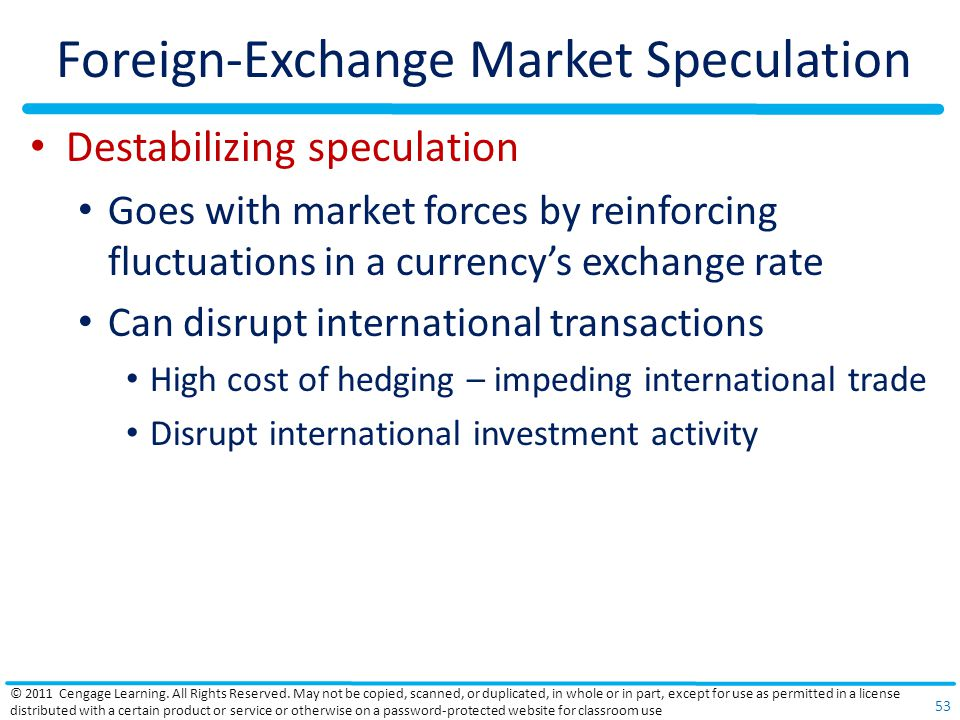 Foreign-Exchange Market Speculation