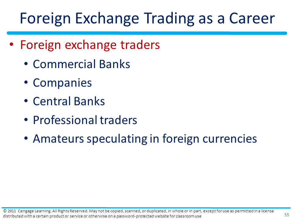 Foreign Exchange Trading as a Career