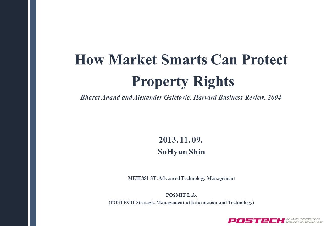 How Market Smarts Can Protect Property Rights