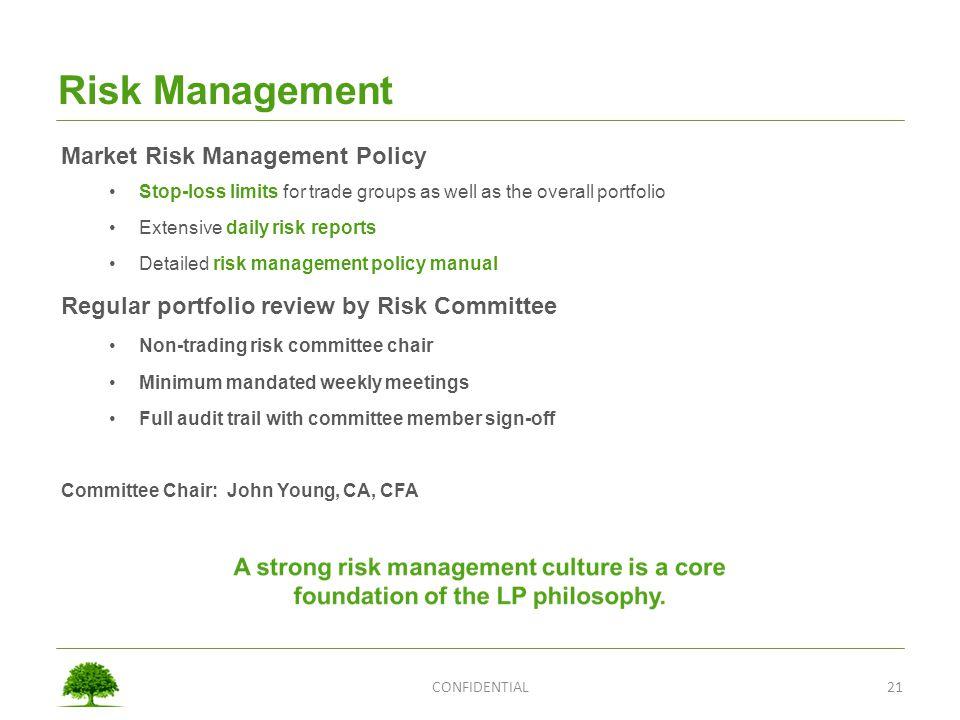 Risk Management Market Risk Management Policy