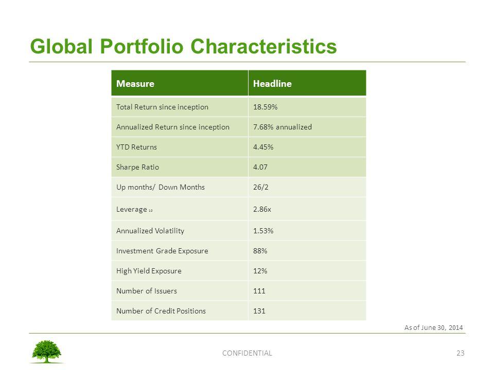 Global Portfolio Characteristics