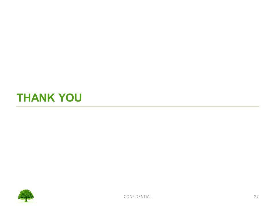 THANK YOU CONFIDENTIAL