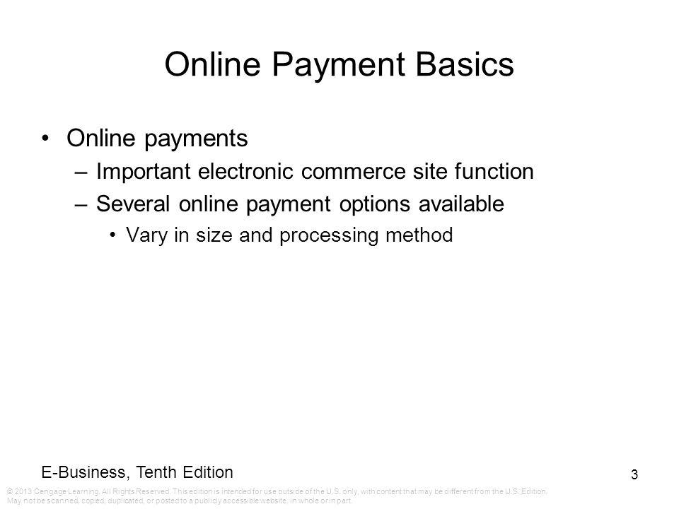 Online Payment Basics Online payments