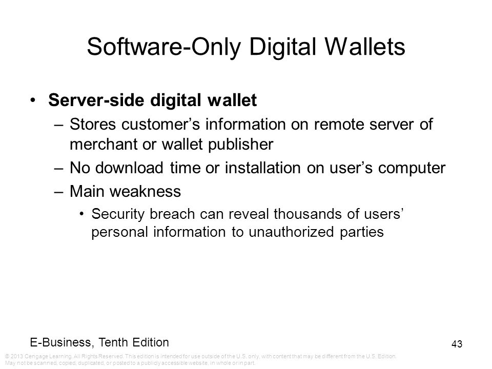 Software-Only Digital Wallets
