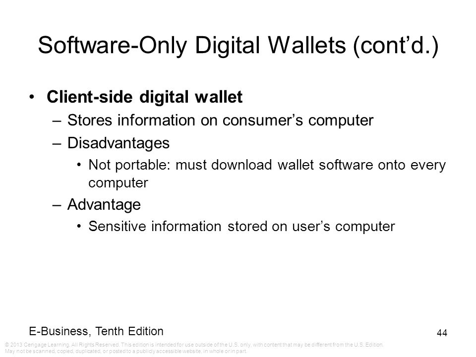 Software-Only Digital Wallets (cont'd.)