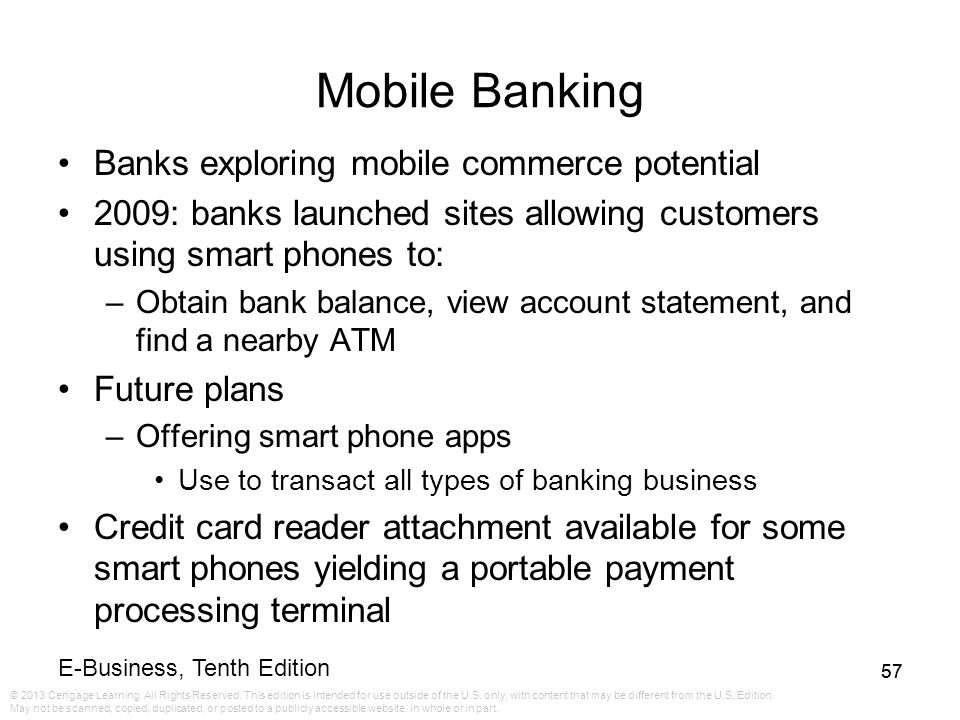 E business tenth edition ppt video online download mobile banking banks exploring mobile commerce potential colourmoves Choice Image