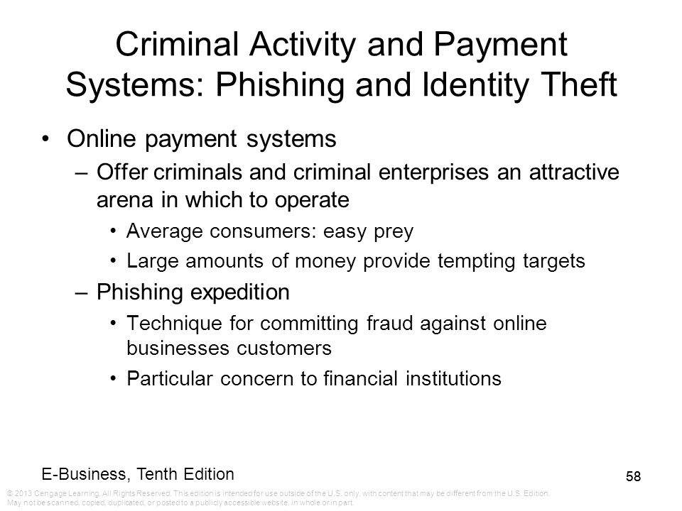 Criminal Activity and Payment Systems: Phishing and Identity Theft