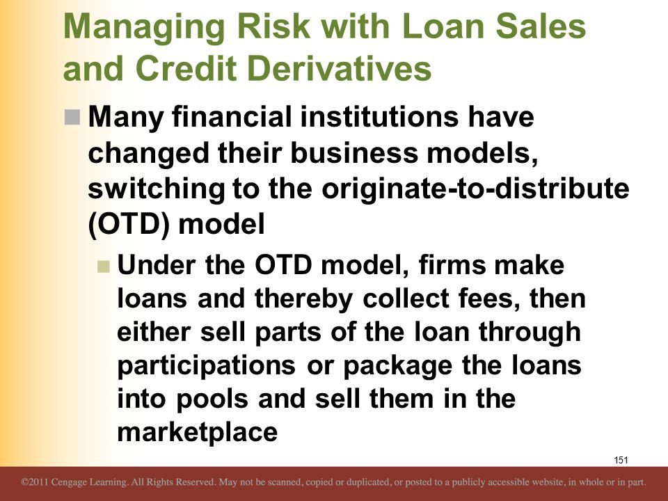 Managing Risk with Loan Sales and Credit Derivatives