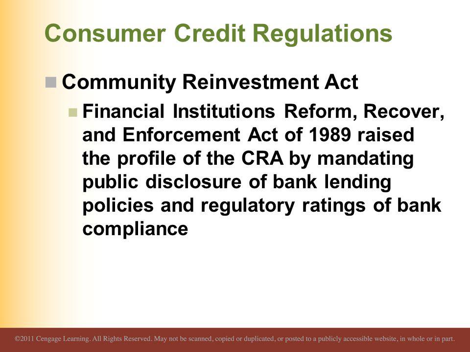 Consumer Credit Regulations
