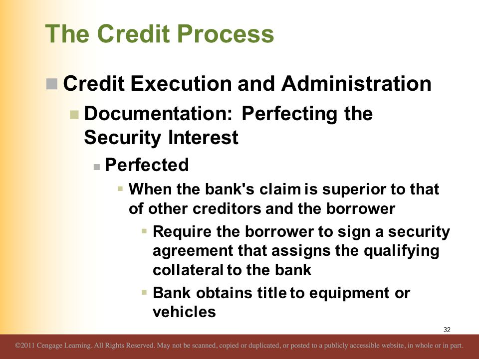 The Credit Process Credit Execution and Administration