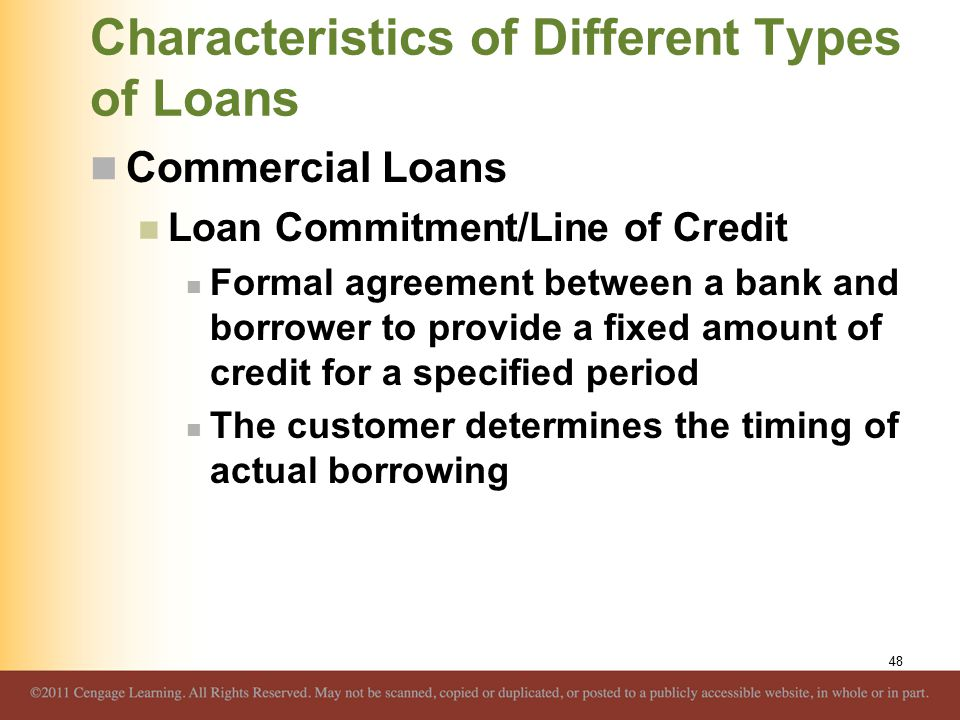 Overview of credit policy and loan characteristics ppt download characteristics of different types of loans platinumwayz