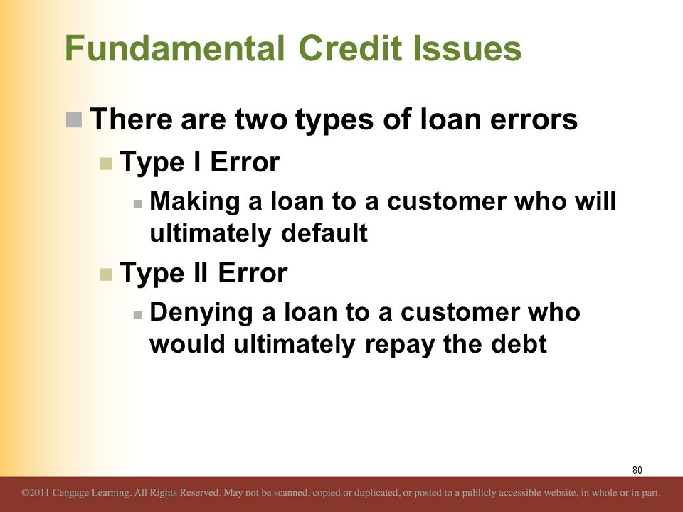 Fundamental Credit Issues
