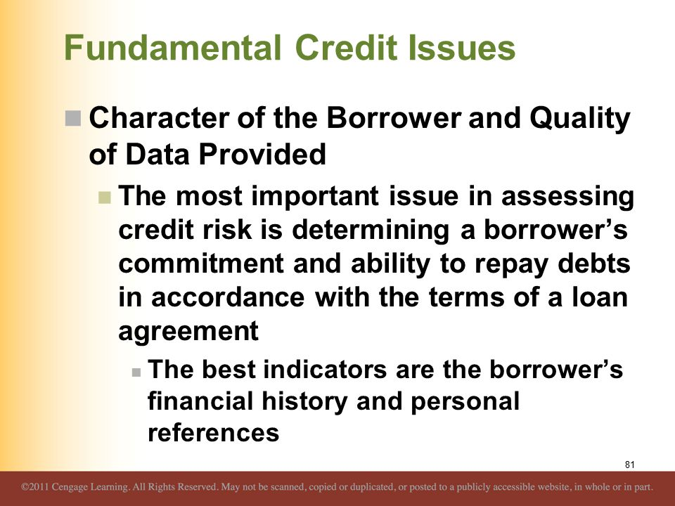 Overview of credit policy and loan characteristics ppt download fundamental credit issues platinumwayz