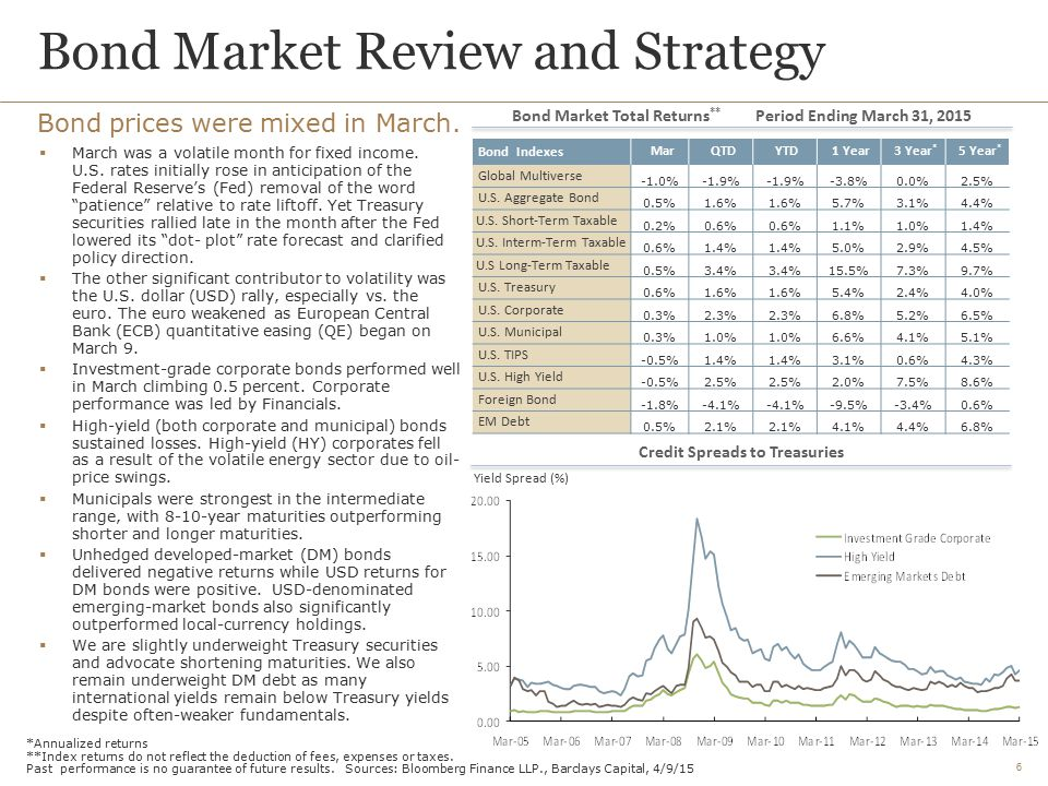 Bond Market Review and Strategy