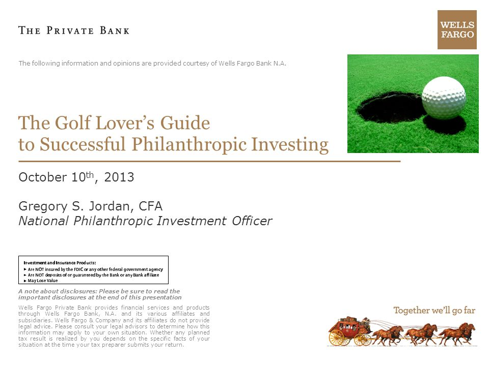 The Golf Lover's Guide to Successful Philanthropic Investing