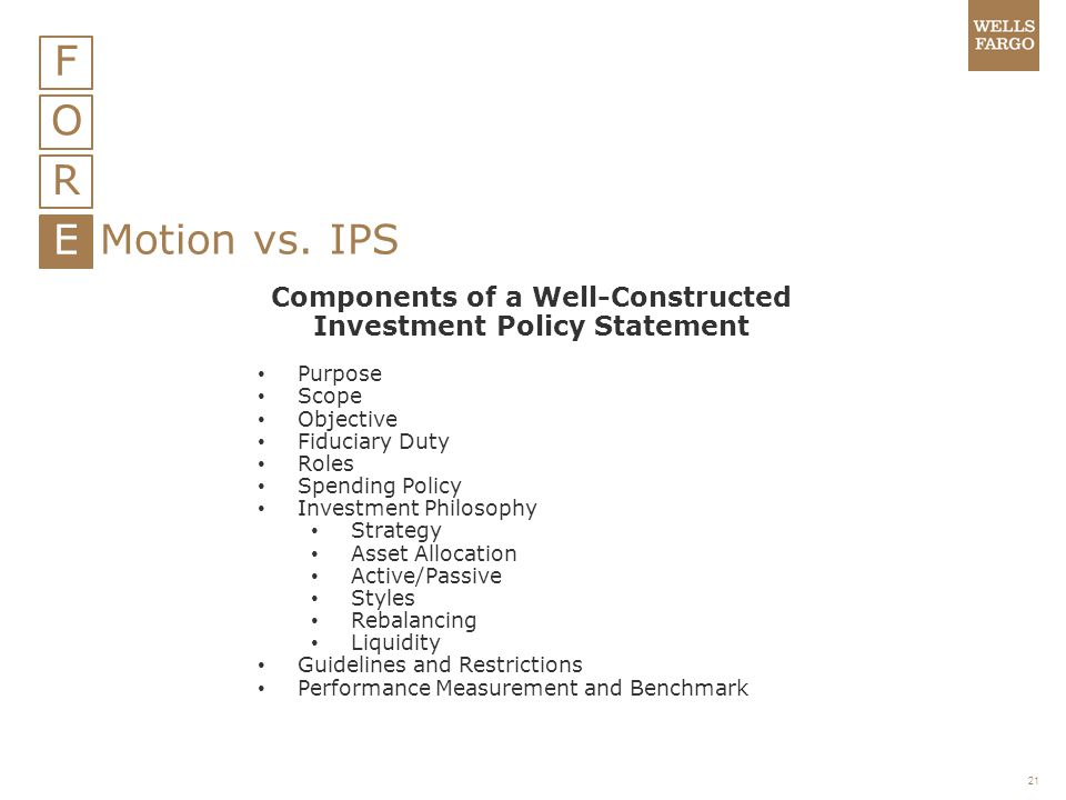 Components of a Well-Constructed Investment Policy Statement