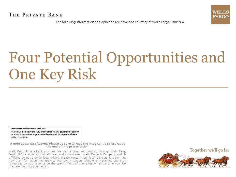 Four Potential Opportunities and One Key Risk