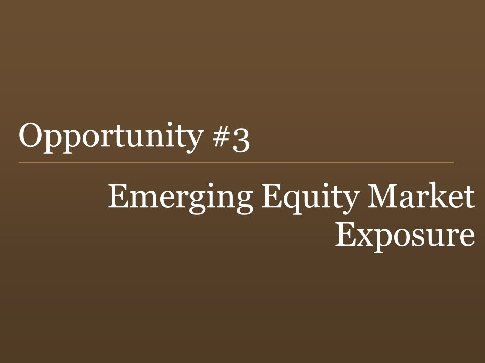 Emerging Equity Market Exposure