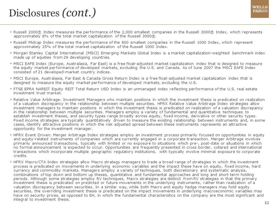 Disclosures (cont.)