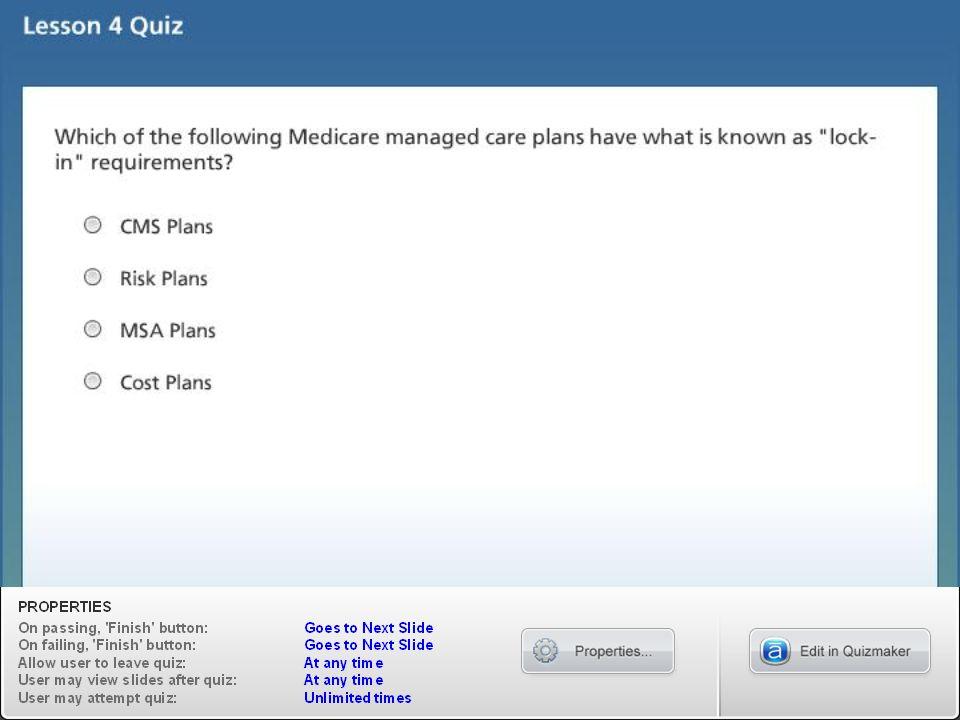 Lesson 4 Quiz