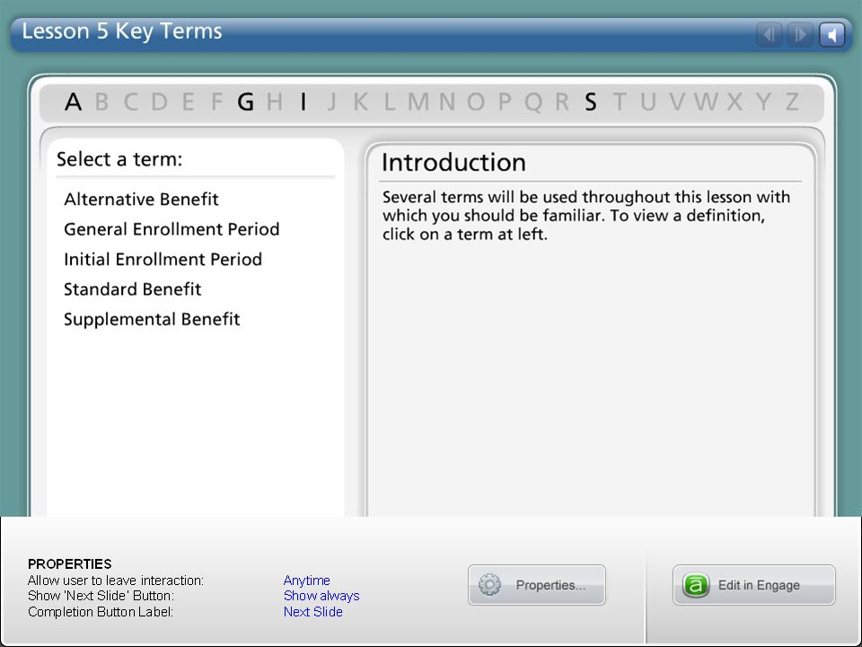 Lesson 5 Key Terms