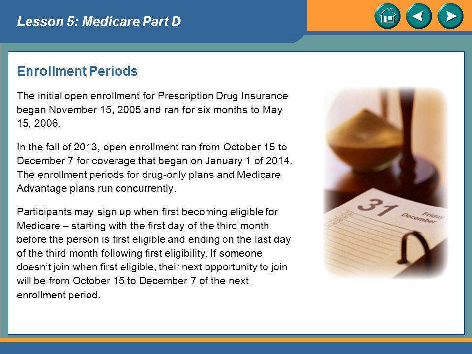 Lesson 5: Medicare Part D
