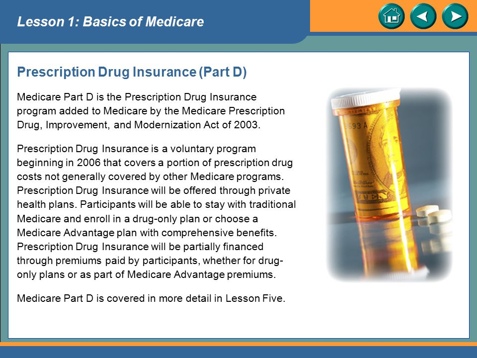 Prescription Drug Insurance (Part D)