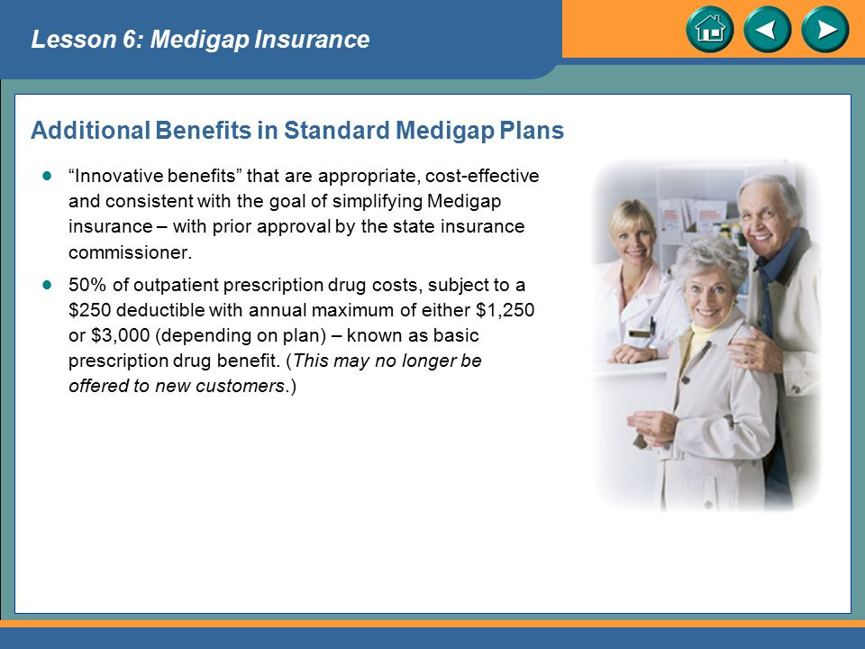 Additional Benefits in Standard Medigap Plans