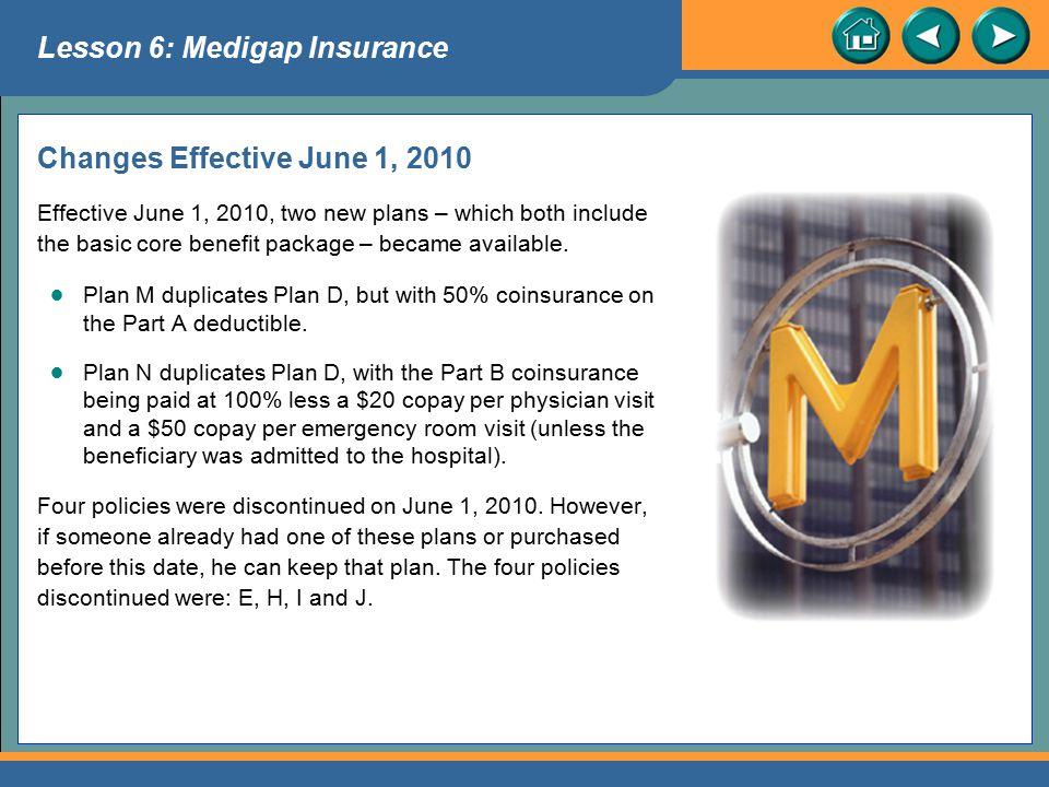 Changes Effective June 1, 2010