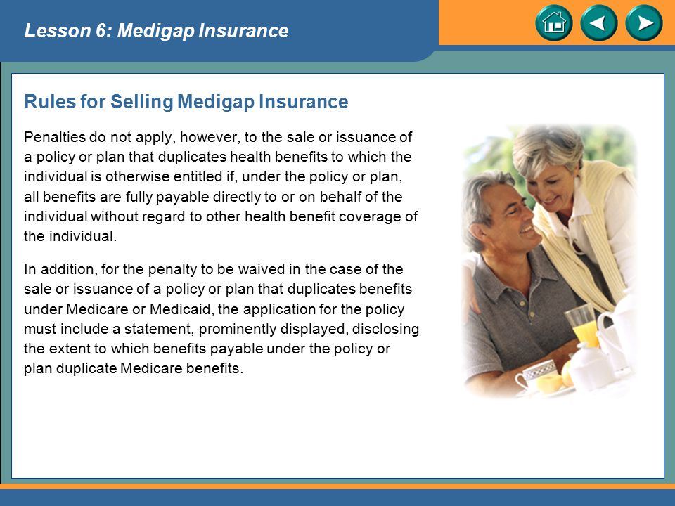 Rules for Selling Medigap Insurance