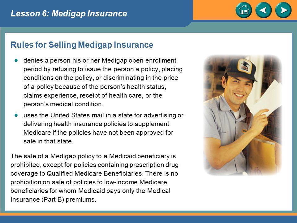 Rules for Selling Medigap Insurance