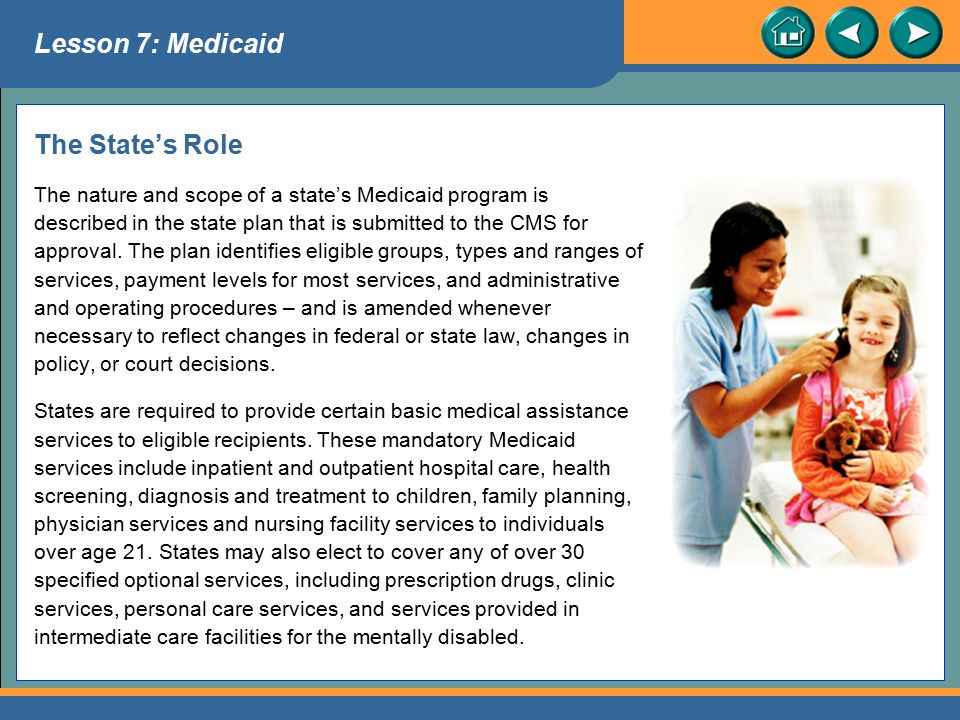 Lesson 7: Medicaid The State's Role