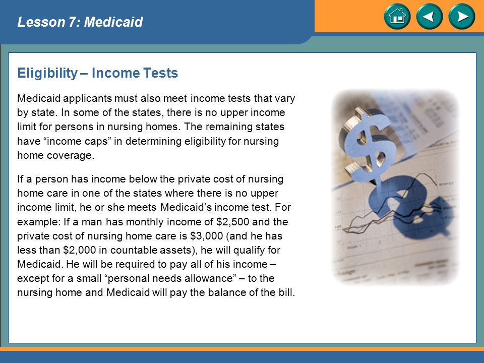 Eligibility – Income Tests