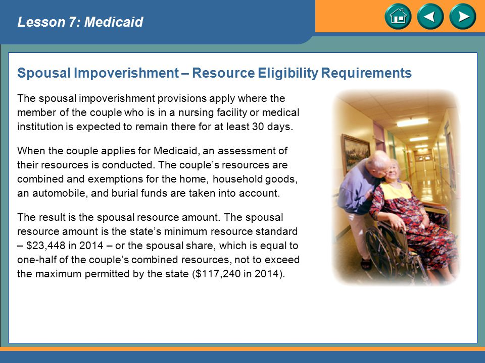 Spousal Impoverishment – Resource Eligibility Requirements