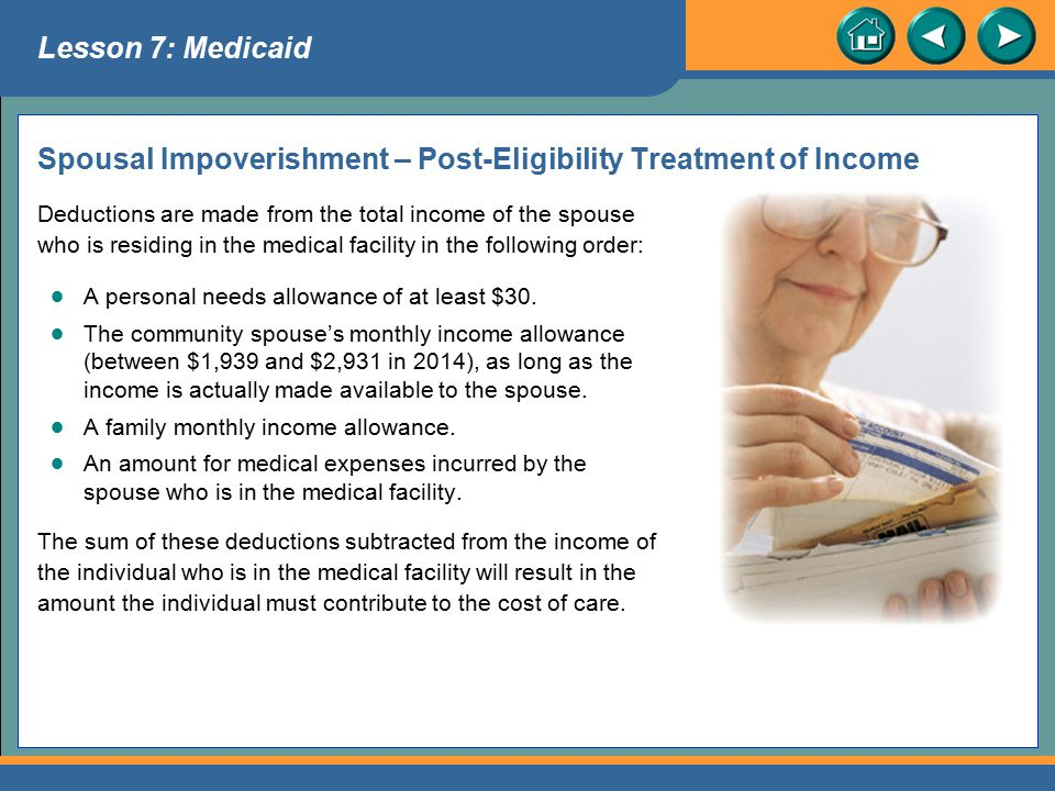 Spousal Impoverishment – Post-Eligibility Treatment of Income