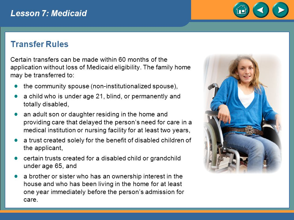 Lesson 7: Medicaid Transfer Rules