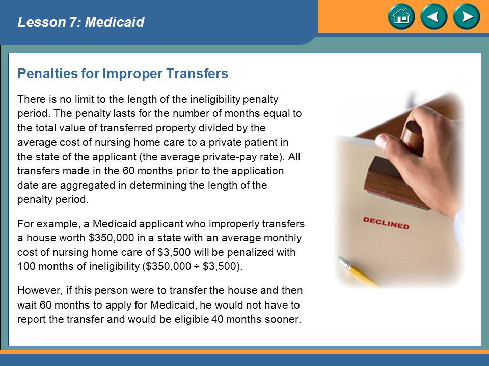Penalties for Improper Transfers