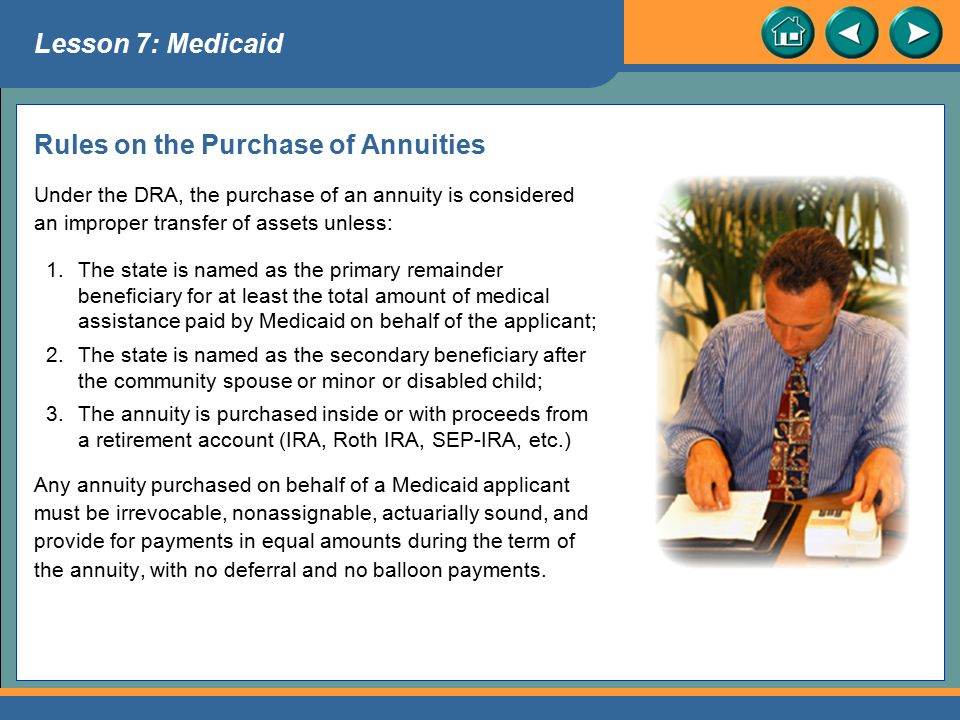 Rules on the Purchase of Annuities