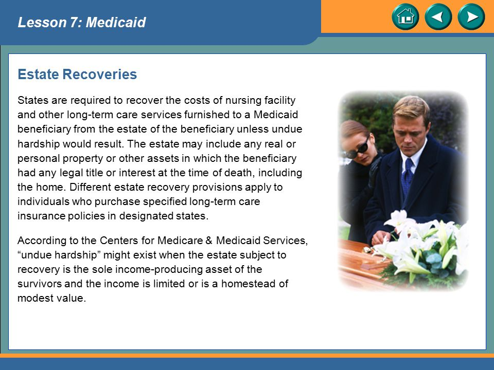 Lesson 7: Medicaid Estate Recoveries