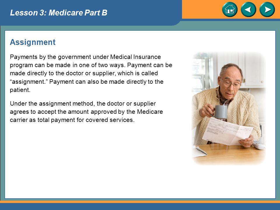 Lesson 3: Medicare Part B