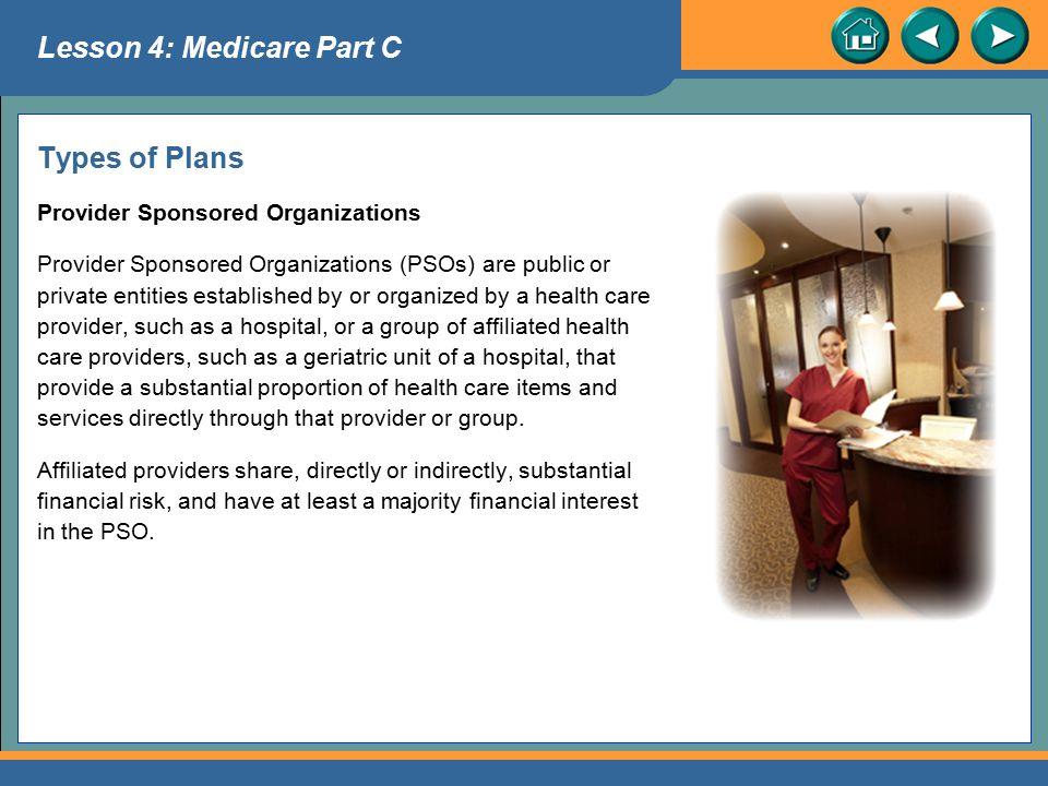 Lesson 4: Medicare Part C