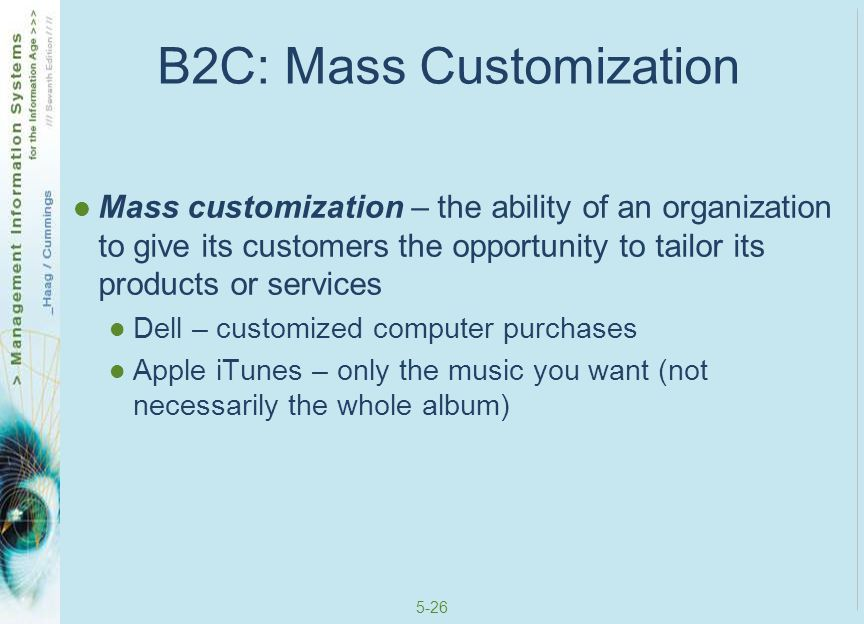 B2C: Mass Customization