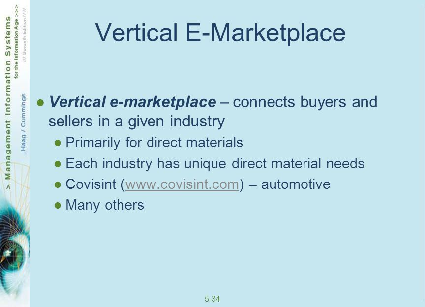Vertical E-Marketplace