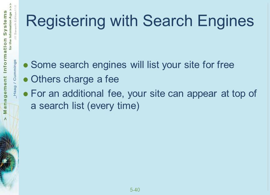 Registering with Search Engines