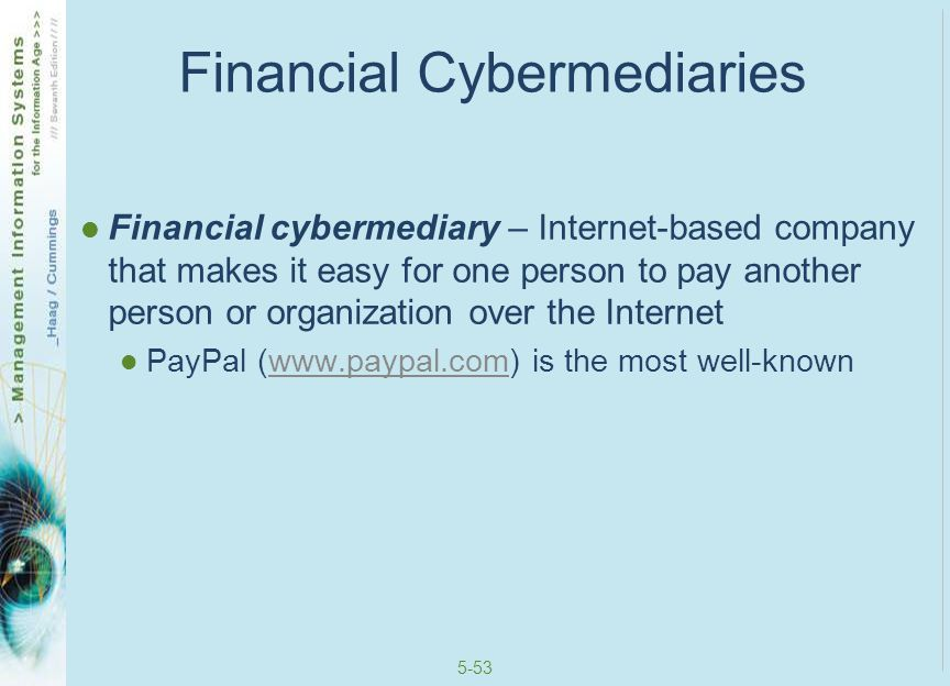 Financial Cybermediaries